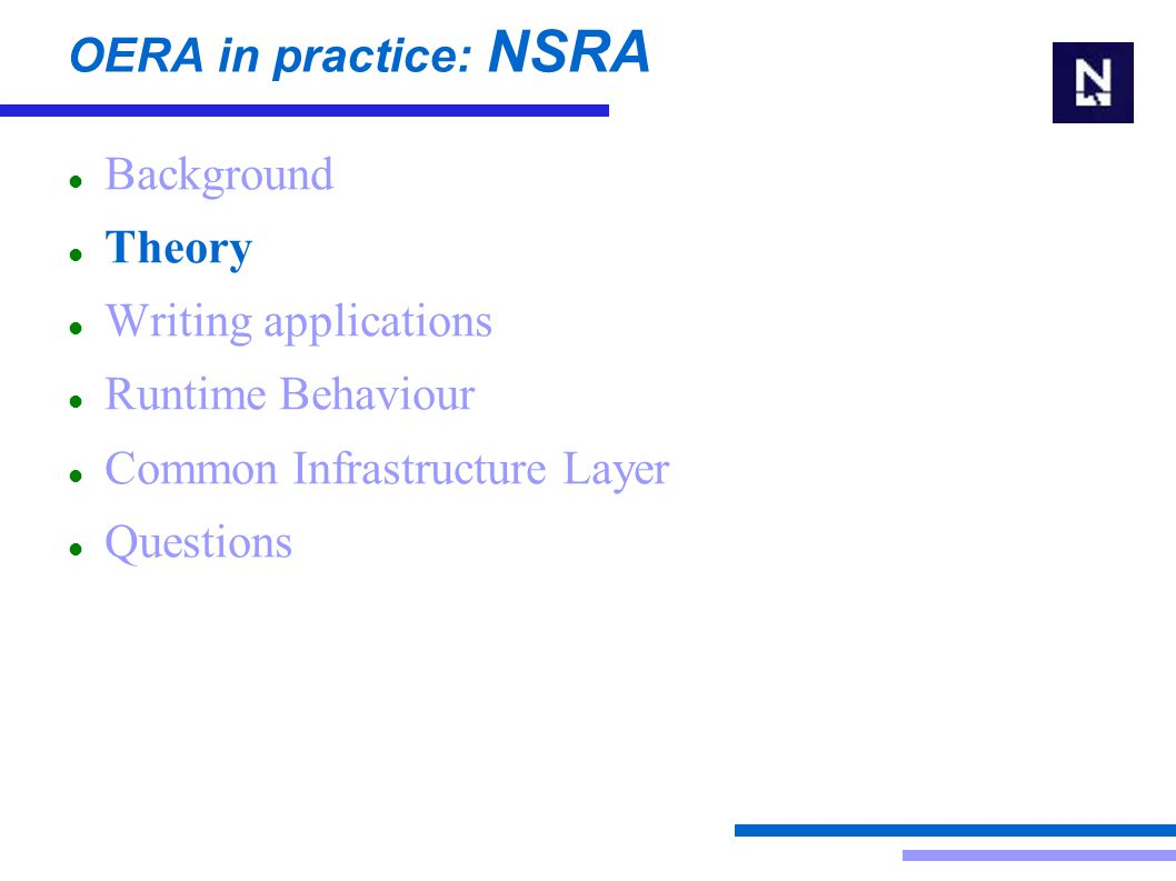 OERA in practice: NSRA Theory  Layers Design time VS runtime  Data entity VS business entity  PDS role and TMTT issue