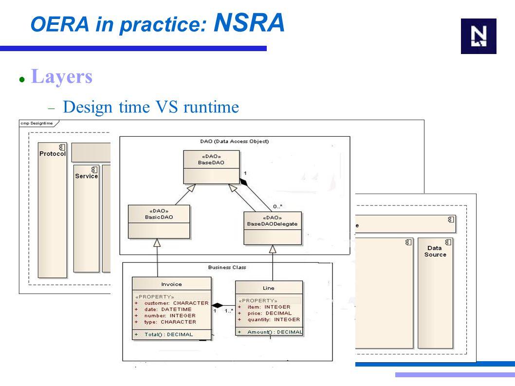 OERA in practice: NSRA Data entity VS business entity