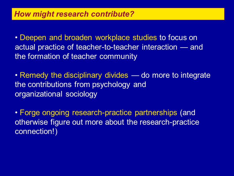 How might research contribute.