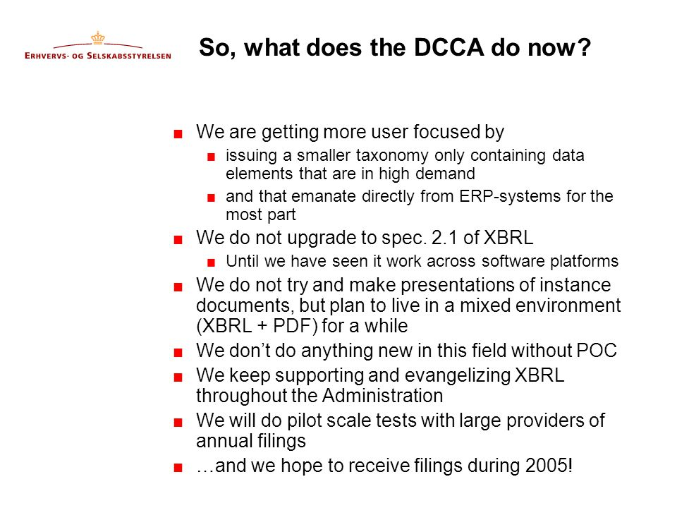 So, what does the DCCA do now.
