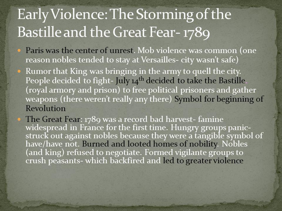 Paris was the center of unrest.