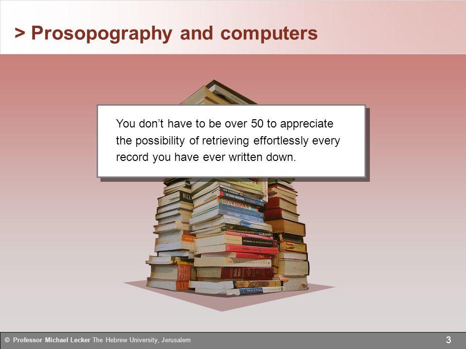 > Edit an existing report 44 © Professor Michael Lecker The Hebrew University, Jerusalem