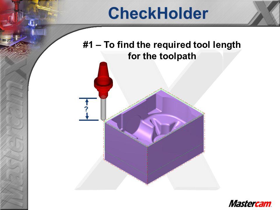 CheckHolder Setup Sheet The setup sheet overall Length wasn't updated since the NCI file wasn't modified