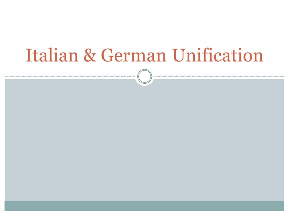 Italian & German Unification