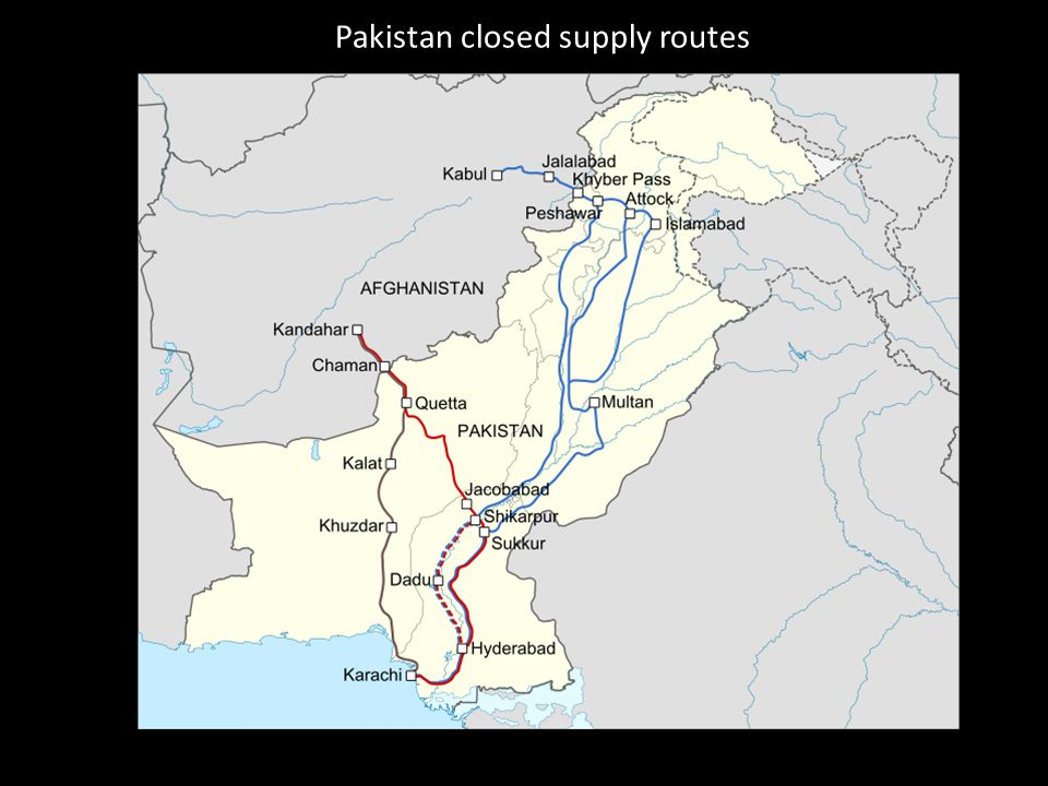 Pakistan closed supply routes