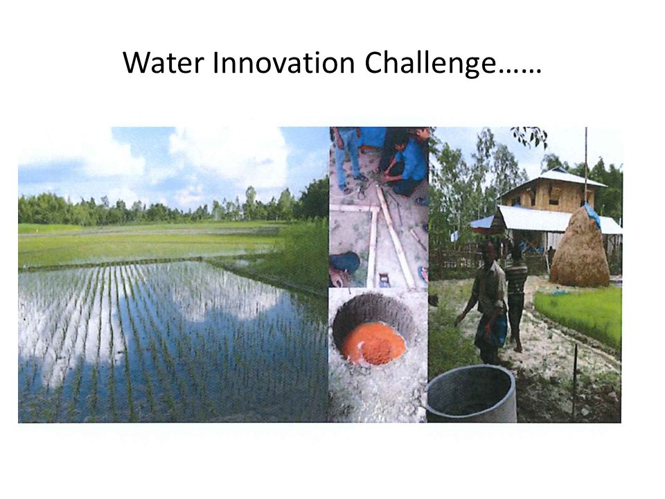 Water Innovation Challenge……