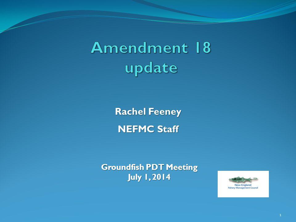 1 Rachel Feeney NEFMC Staff Groundfish PDT Meeting July 1, 2014
