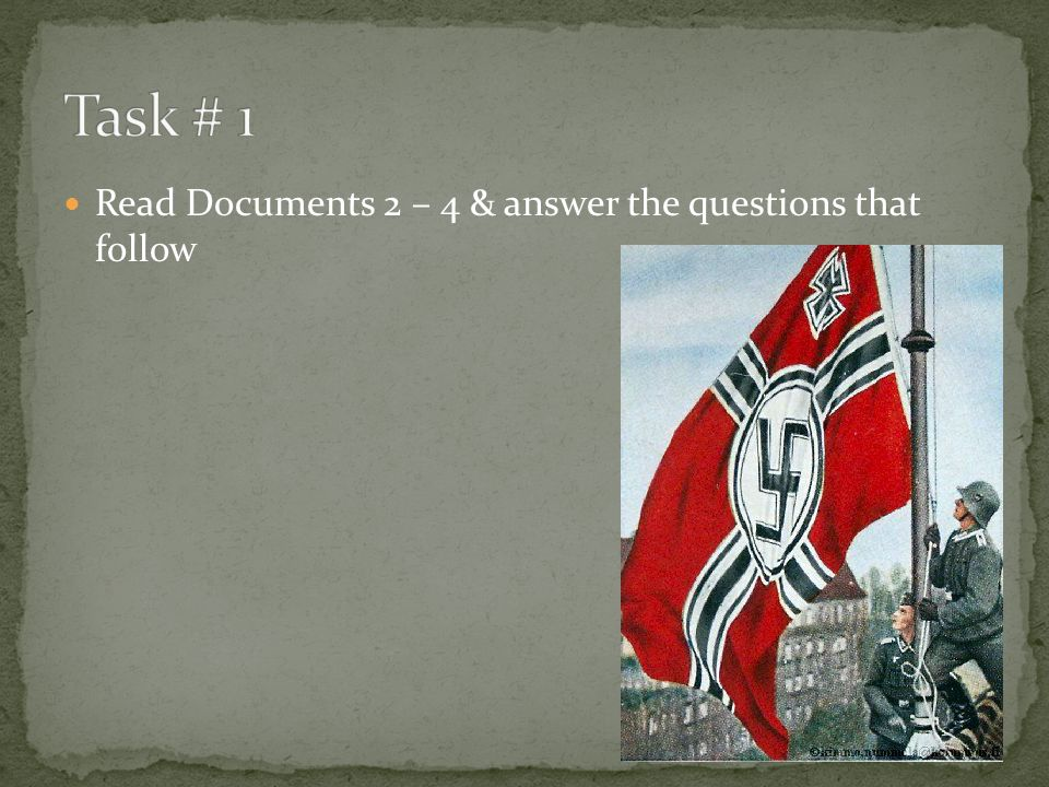 Read Documents 2 – 4 & answer the questions that follow