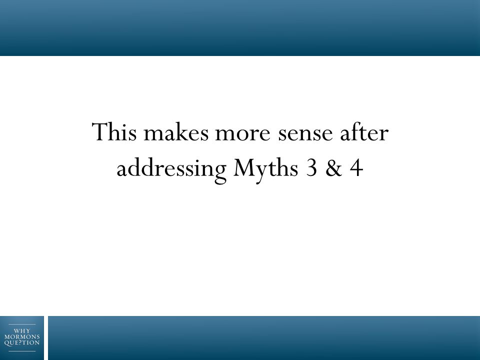 3.Never had a testimony to begin with 4.Lazy…or stopped praying and reading the scriptures Myths #3 - 4