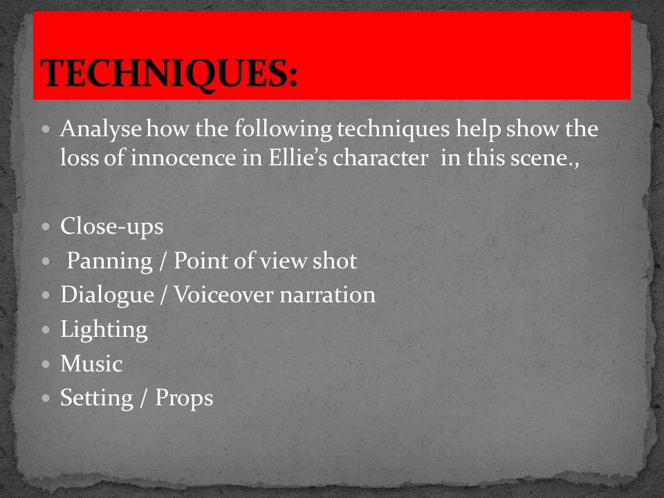 1.Shows Ellie's horror and obvious distress at having killed someone.