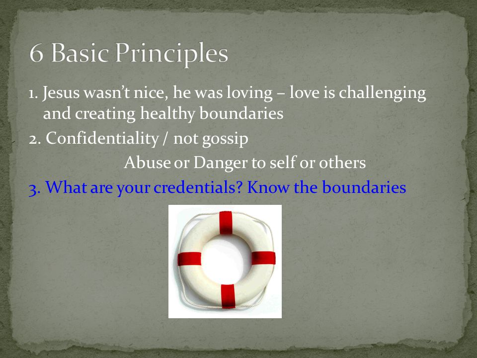 1. Jesus wasn't nice, he was loving – love is challenging and creating healthy boundaries 2.