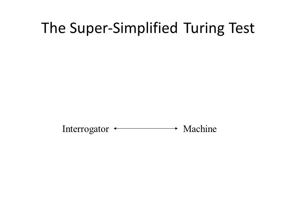 The Super-Simplified Turing Test InterrogatorMachine