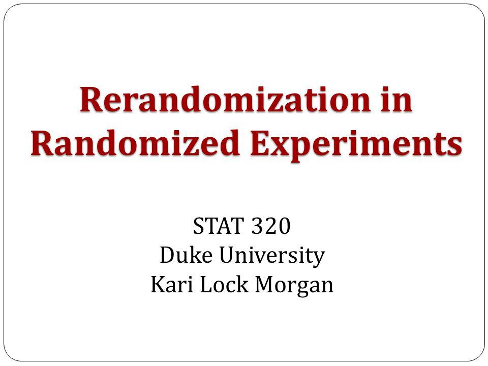 Distribution of M RERANDOMIZE Acceptable Randomizations p a = Probability of accepting a randomization