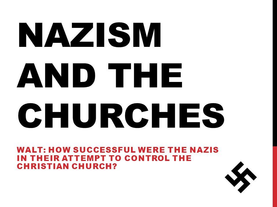 WILFS E) = Describe the German Churches before 1933.