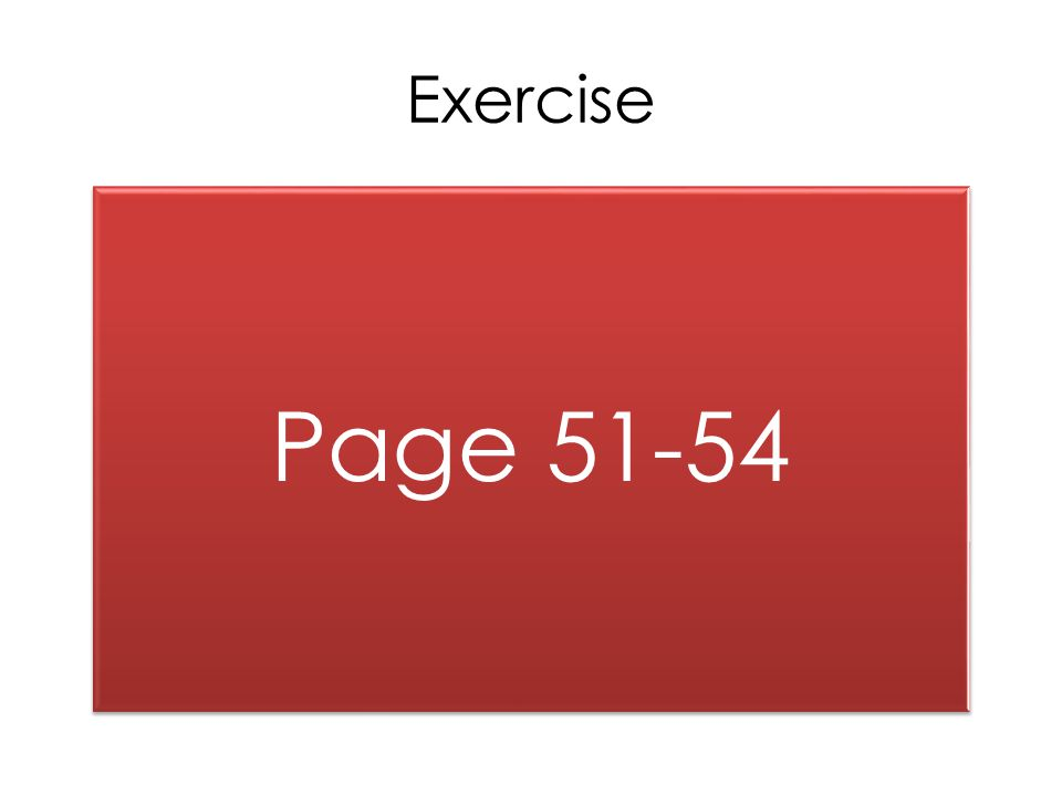 Exercise Page 51-54