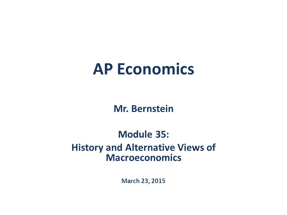 AP Economics Mr.