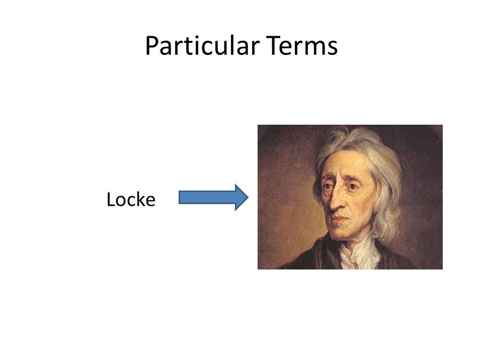 Particular Terms Locke