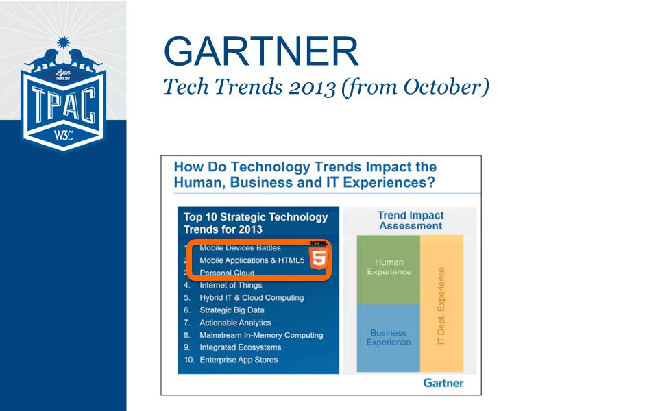 Tech Trends 2013 (from October) GARTNER