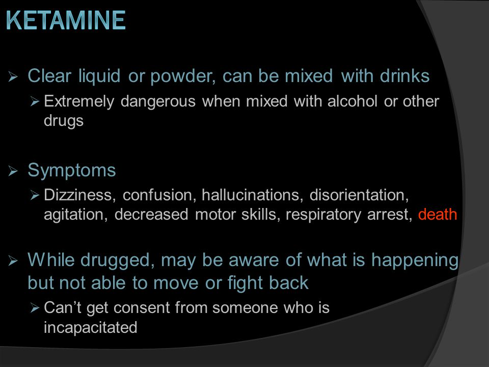 Which drug is used on animals as a sedative and can make someone feel detached from the situation.