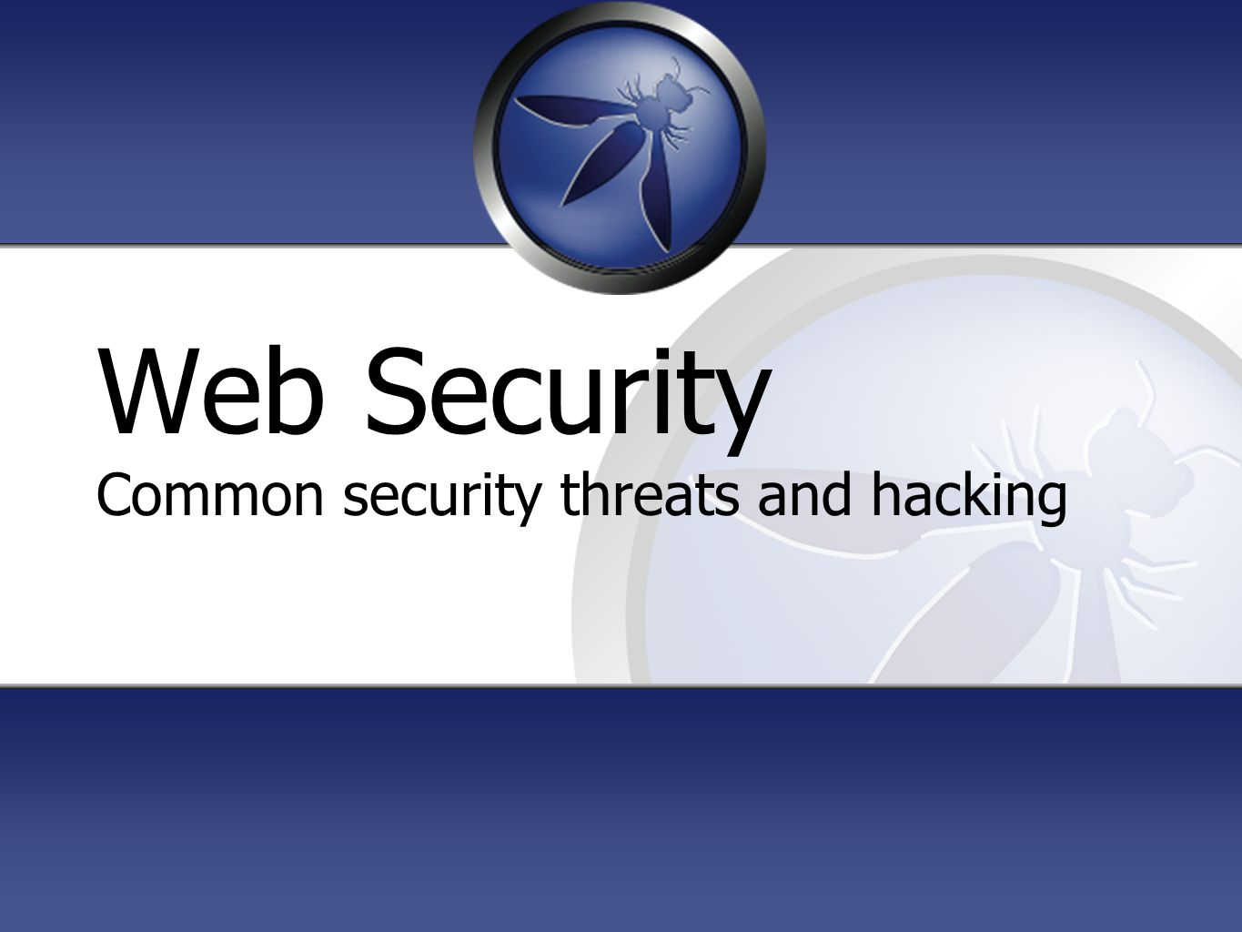 Web Security Common security threats and hacking