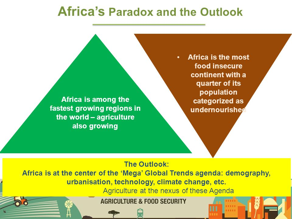 CAADP as a powerful tool of advocacy asserting the strategic importance of agricultural transformation in Africa now thanks largely due to the instrumentality of CAADP, it is fashionable to talk of agricultural development as a priority; it wasn't the case before.