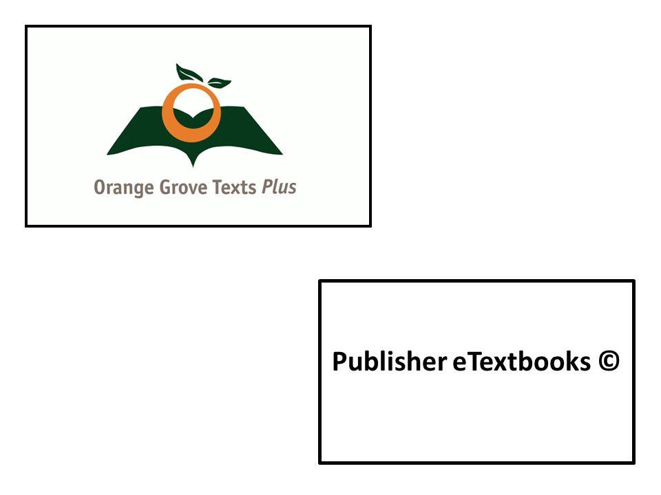 Publisher eTextbooks ©