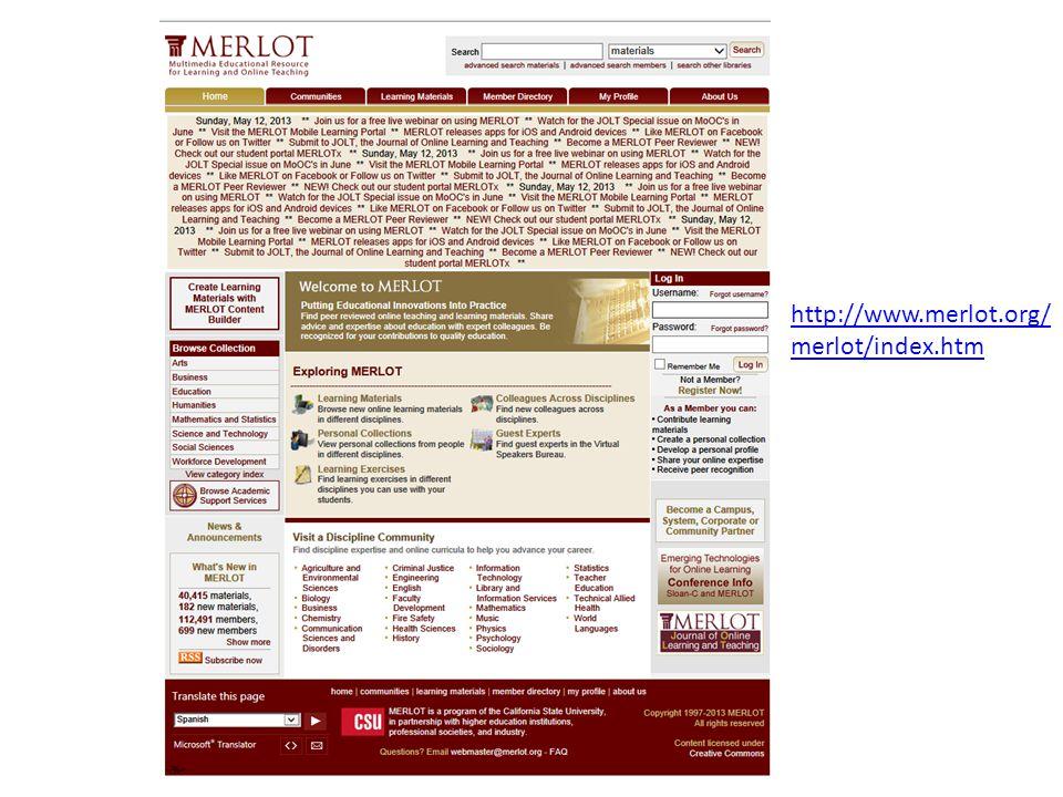 http://www.merlot.org/ merlot/index.htm
