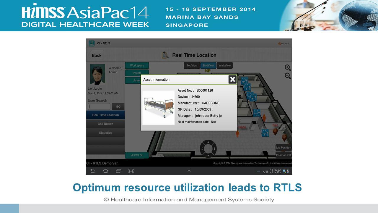 Optimum resource utilization leads to RTLS