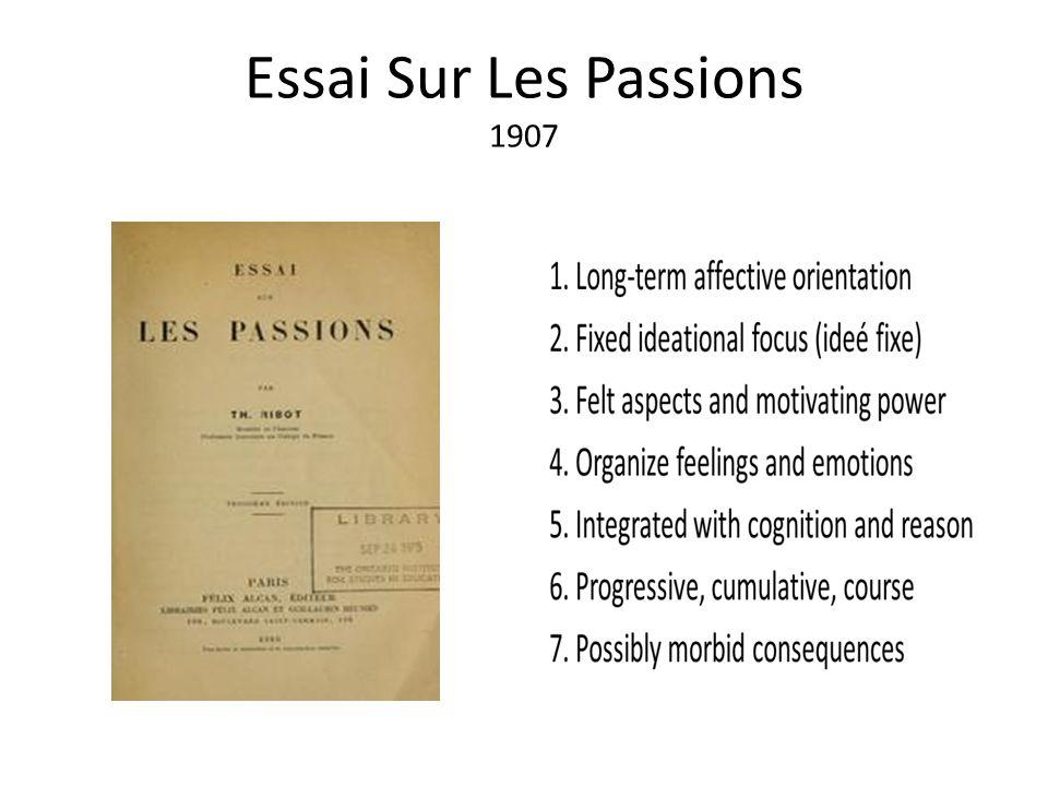 Essai Sur Les Passions 1907