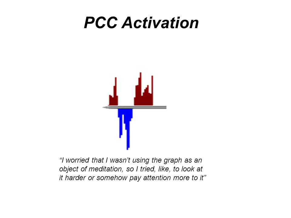 I worried that I wasn't using the graph as an object of meditation, so I tried, like, to look at it harder or somehow pay attention more to it PCC Activation