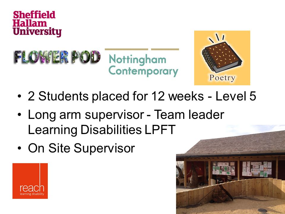 2 Students placed for 12 weeks - Level 5 Long arm supervisor - Team leader Learning Disabilities LPFT On Site Supervisor