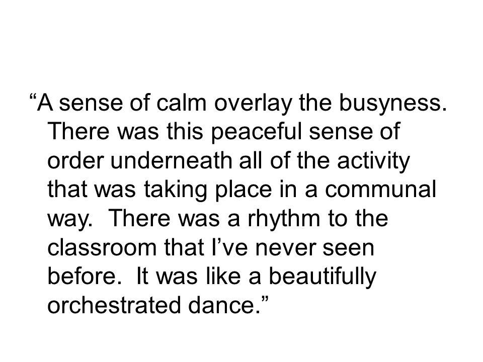 A sense of calm overlay the busyness.