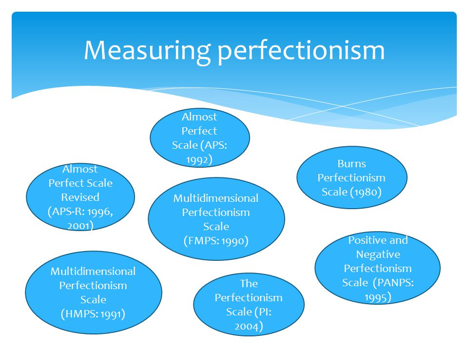 My bias is that perfectionism is not only an undesirable goal but a debilitating one as well.