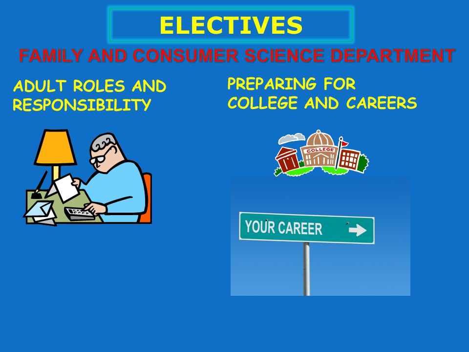 ELECTIVES ADULT ROLES AND RESPONSIBILITY PREPARING FOR COLLEGE AND CAREERS