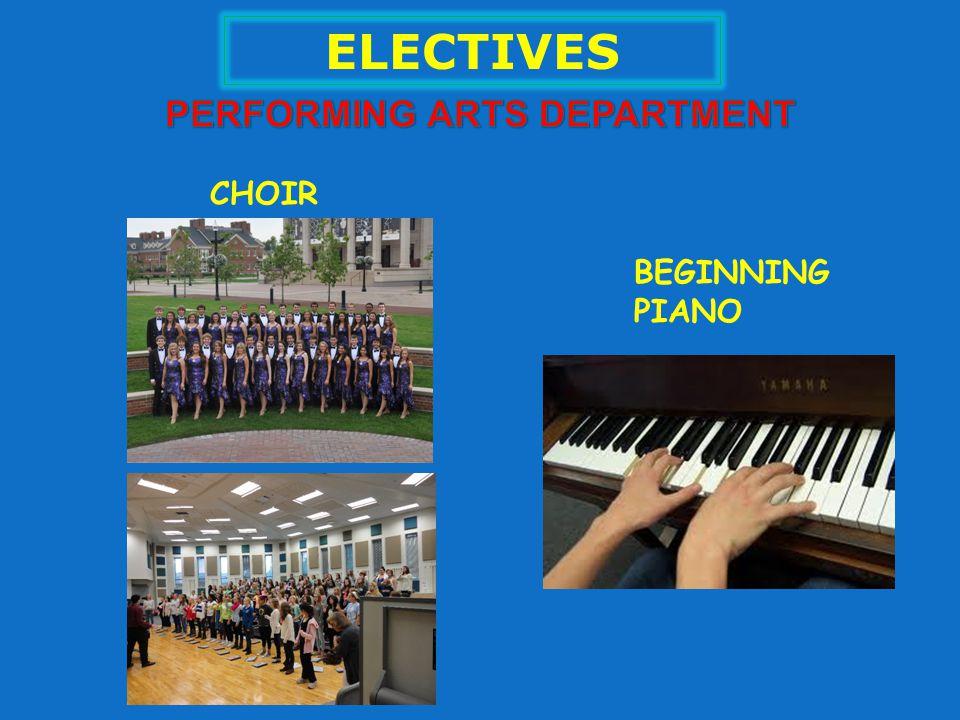 ELECTIVES CHOIR BEGINNING PIANO