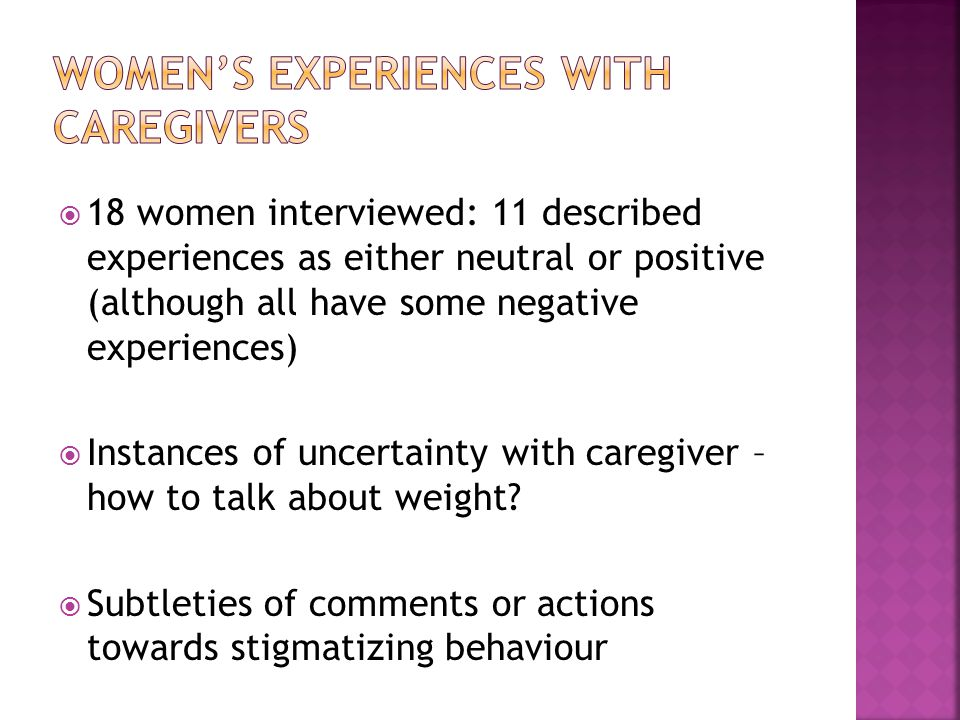 Two over-riding emotions in interviews:  self-blame/guilt  fear of judgment