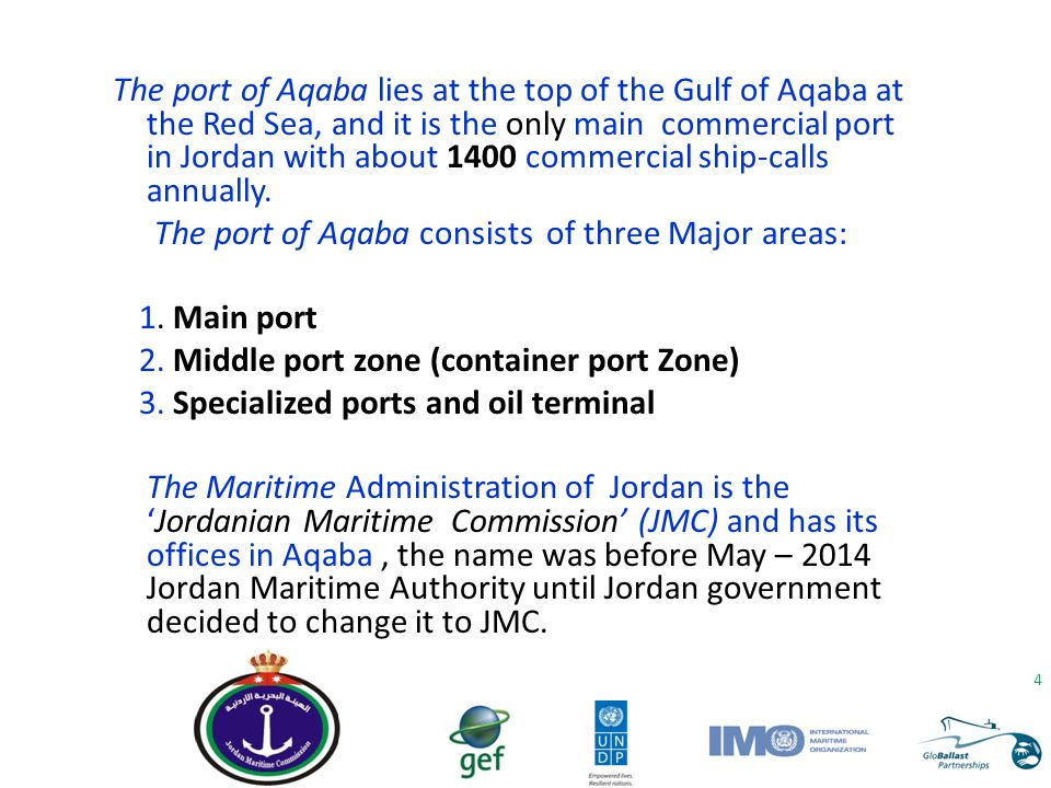 The Importance of the Ballast Water Issues to our Country is that the Gulf of Aqaba (the only window to the sea) is considered to be a closed special area.