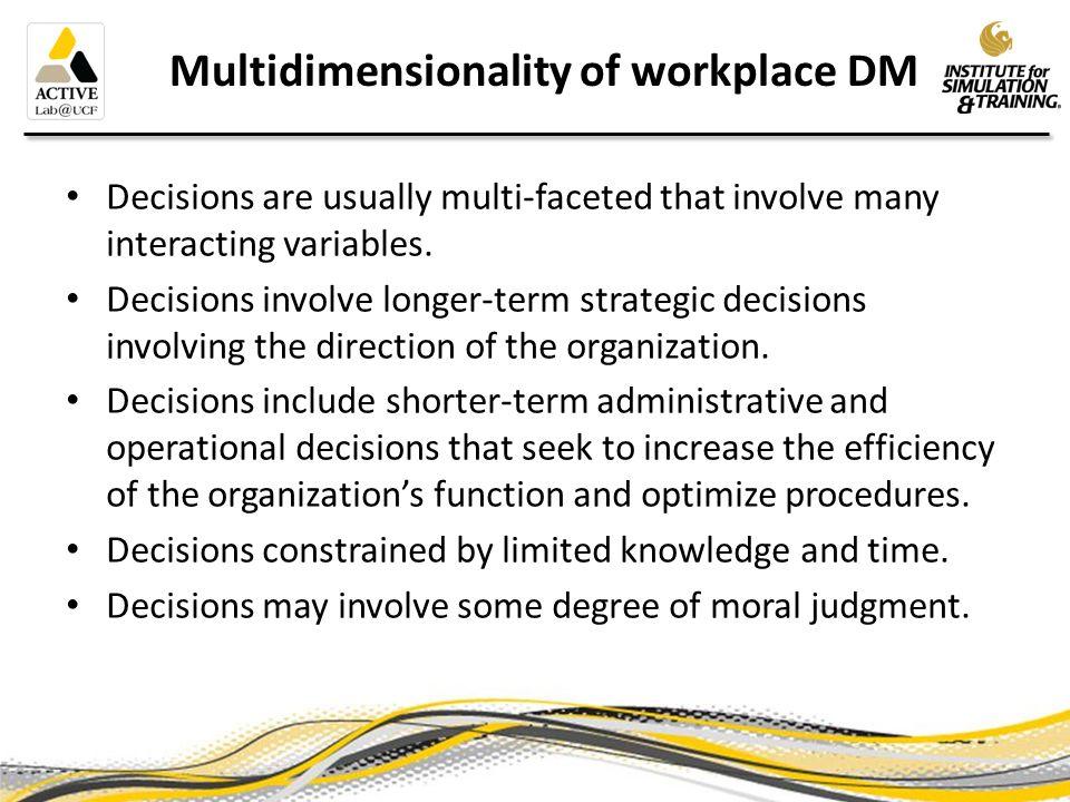 Factors that affect DM 3 broad groups of factors * 1.Problem Characteristics (e.g.