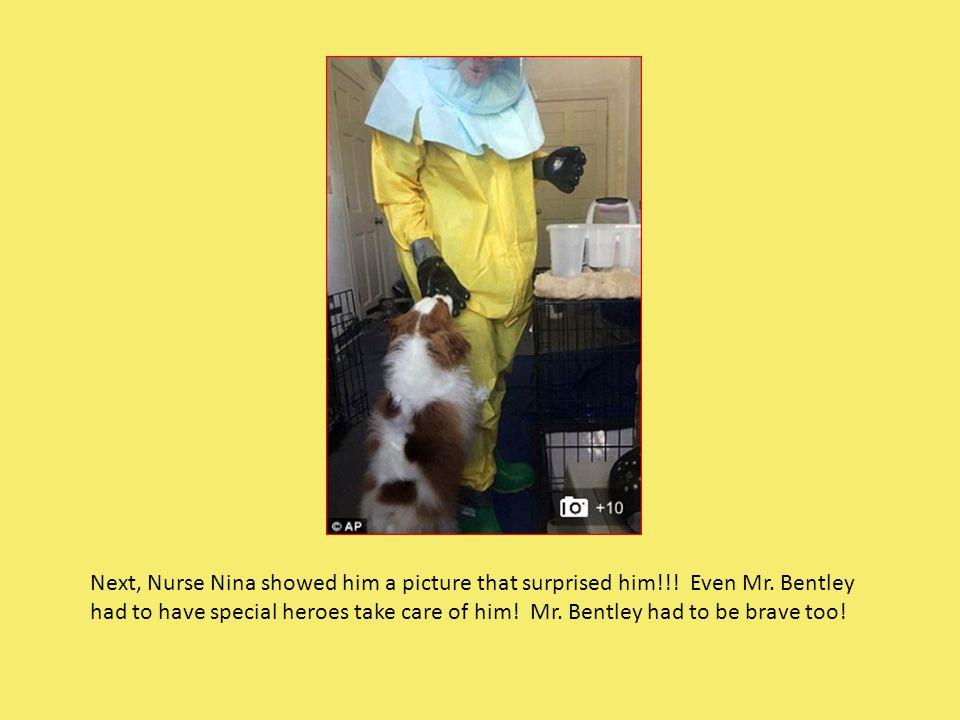 Next, Nurse Nina showed him a picture that surprised him!!.