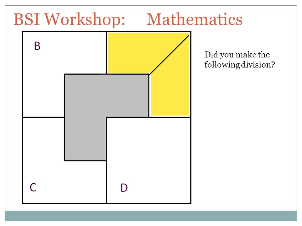 BSI Workshop: Mathematics AS DETERMINED BY THE LOGICAL VISUALISTS.