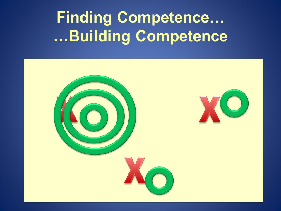 Finding Competence… …Building Competence