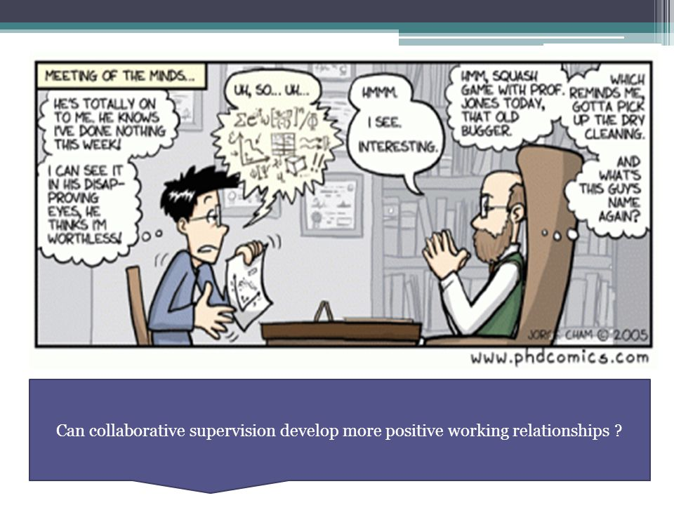 Can collaborative supervision develop more positive working relationships ?