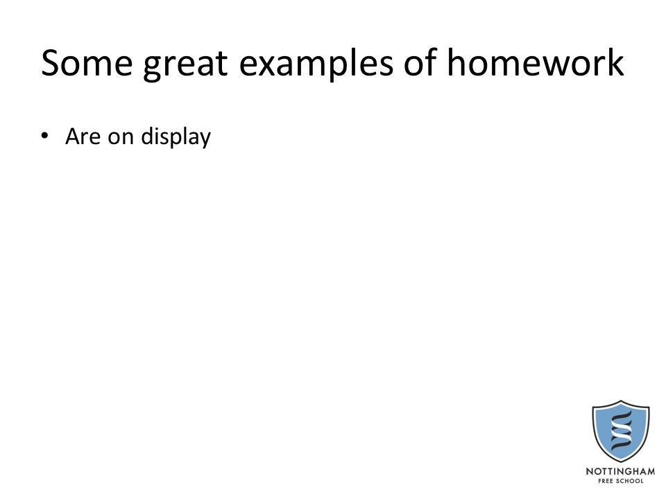 You Said, we did………… On your post it write down anything about homework which you would like to be addressed.