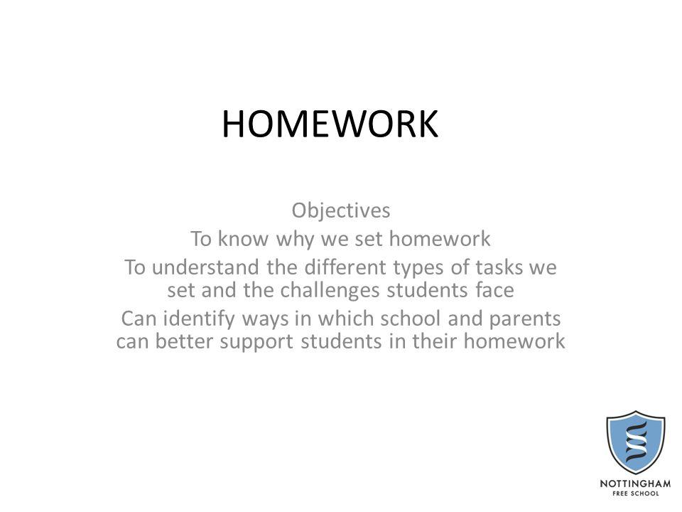 Why do we set homework.