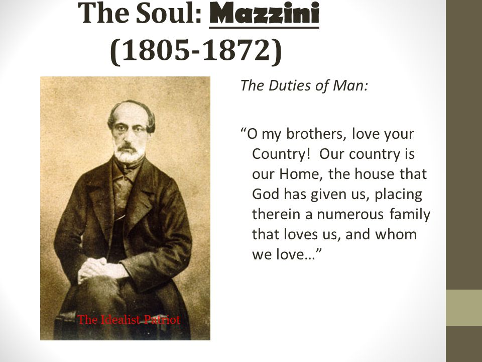 Giuseppe Mazzini a. Giuseppe Mazzini Nationalist leader who founded Young Italy.