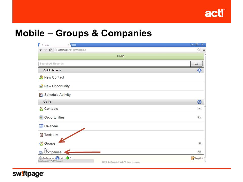 Mobile – Groups & Companies