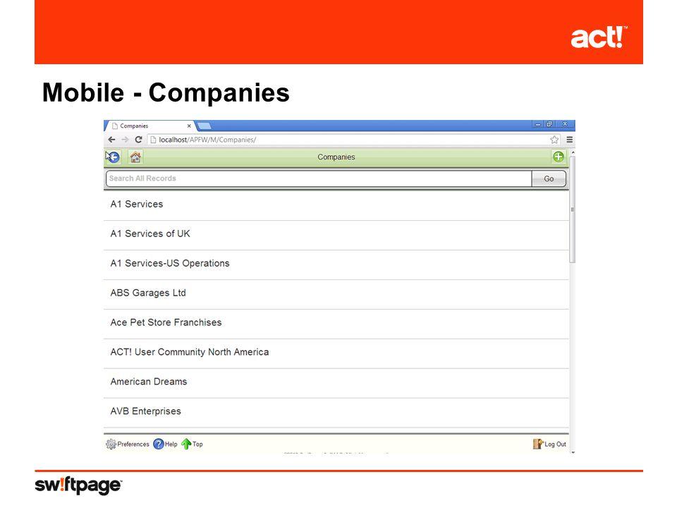 Mobile - Companies