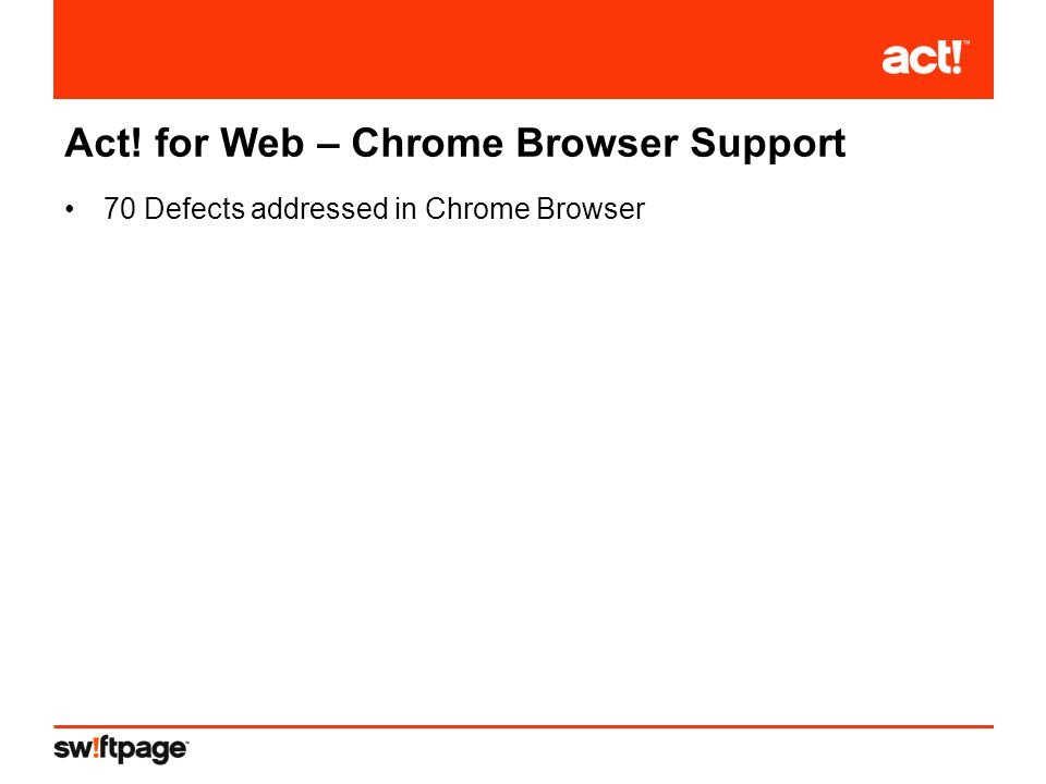 70 Defects addressed in Chrome Browser