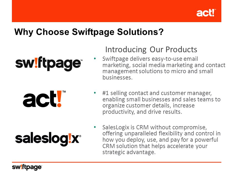 Why Choose Swiftpage Solutions.