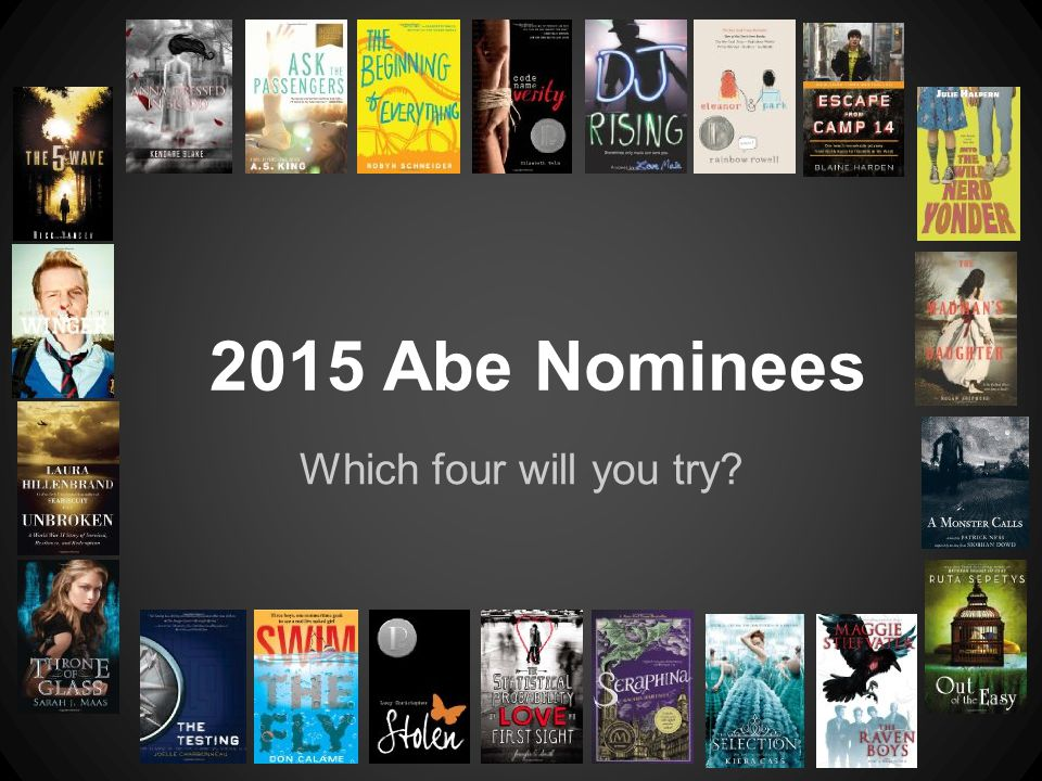 Which four will you try? 2015 Abe Nominees